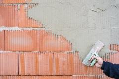 Ziegel Mauer Wand Verputzen